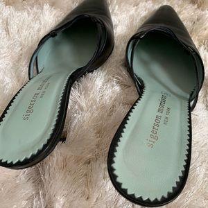 Sigerson Morrison Shoes - Sigerson Morrison Black Slide On Kitten Heels